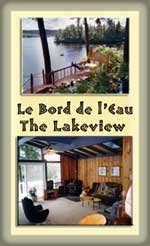 Chalet on Lake Lovering - 2 brm, wood stove, hot tub, deck, dock, view.