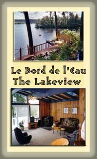 chalet on Lake Lovering w wood stove, deck, dock