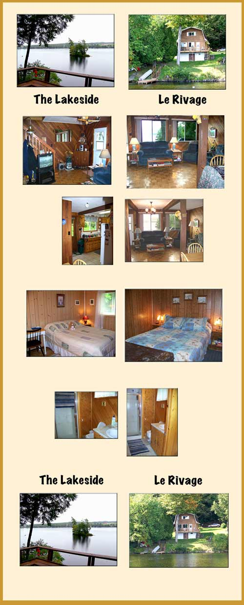 Chalets Eastern Townships. Lakeview, Cottage on Lake ...