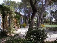 La Peyriere - wooded garden, stone villa