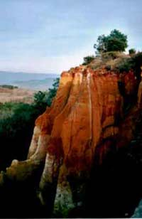 Provence - Rousillon - view of ochre bluff